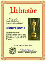 1. Platz - Screenshotraetsel Darth Puma