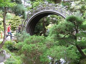 eine Bogenbrücke im Japanese Tea Garden