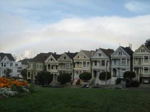 Regenbogen über den Painted Ladies
