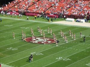 Cheerleader bei der Arbeit